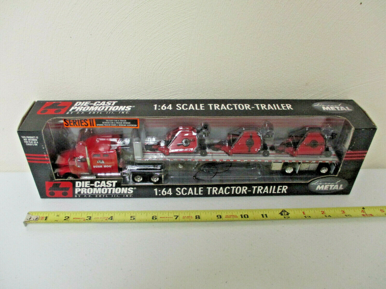 Bush Hog International Semi With Three Flex-Wing Mowers By DCP 1 64th Scale