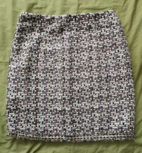 NAANAA-Women-039-s-Simple-Life-Multicoloured-Tweed-Mini-Skirt-Size-8-New-With-Tags