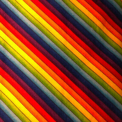 Fat Quarter Flannel Rainbow Sewing Fabric FQ Timeless Treasures