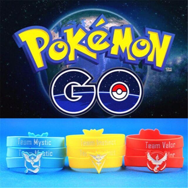 Pokemon Go Wristband Valor Mystic Instinct Silicone Bracelets Xmas Gifts New
