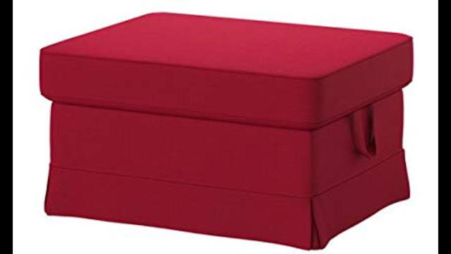 Ikea EKTORP Footstool Sealed! Ottoman Slipcover Cover NORDVALLA DARK GRAY New