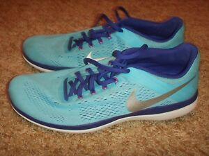 0cd1e2ca32ca76 Nike Flex 2016 RN Running Shoes 830751 400 Blue Gamma Womens Size 11 ...