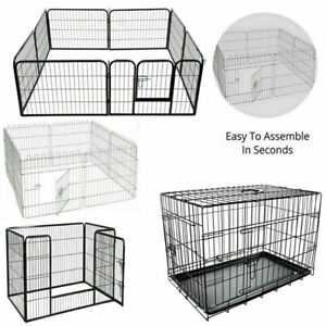4-8-Panel-Pet-Fold-Portable-Dog-Cat-Guinea-Hamster-Garden-Play-Pen-Fence-Cage