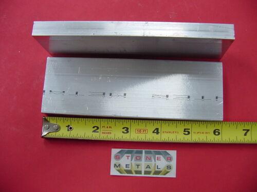 "2 pieces 1//2/""x 2/"" ALUMINUM FLAT BAR 6/"" long 6061 T6511 Solid Mill Stock"