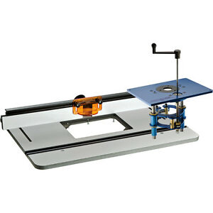 Rockler pro phenolic router table fence fx router lift ebay image is loading rockler pro phenolic router table fence amp fx greentooth Image collections