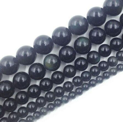 """15/"""" Natural Gemstone Round Spacer Loose Beads 4mm 6mm 8mm 10mm 12mm  Lots Stones"""