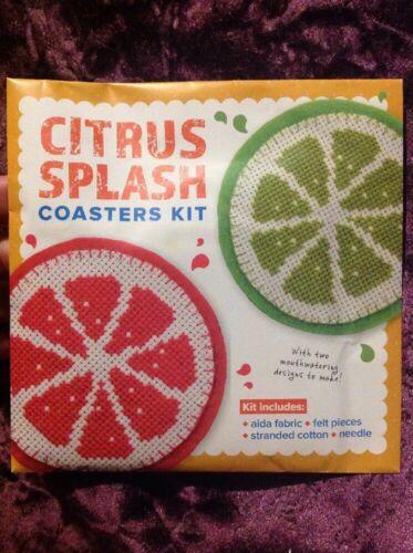 Citrus Splash Coaster Cross Stitch Kit