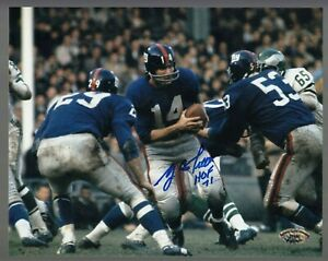 Y-A-Tittle-Signed-Auto-Color-Giants-8x10-Photo-W-HOF-71-SCH-Auth-27690-53