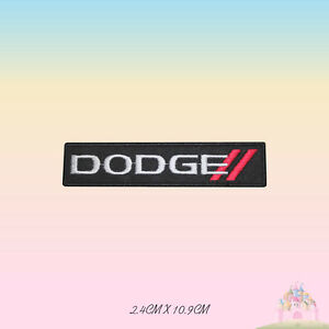 Dodge Car Brand Logo Embroidered Iron On Patch Sew On Badge Applique