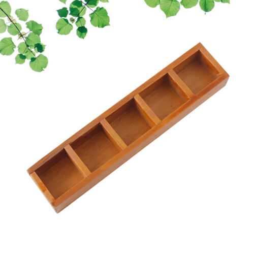 1PC Durable Vintage 5 Compartment Multifunctional Storage Box for Home
