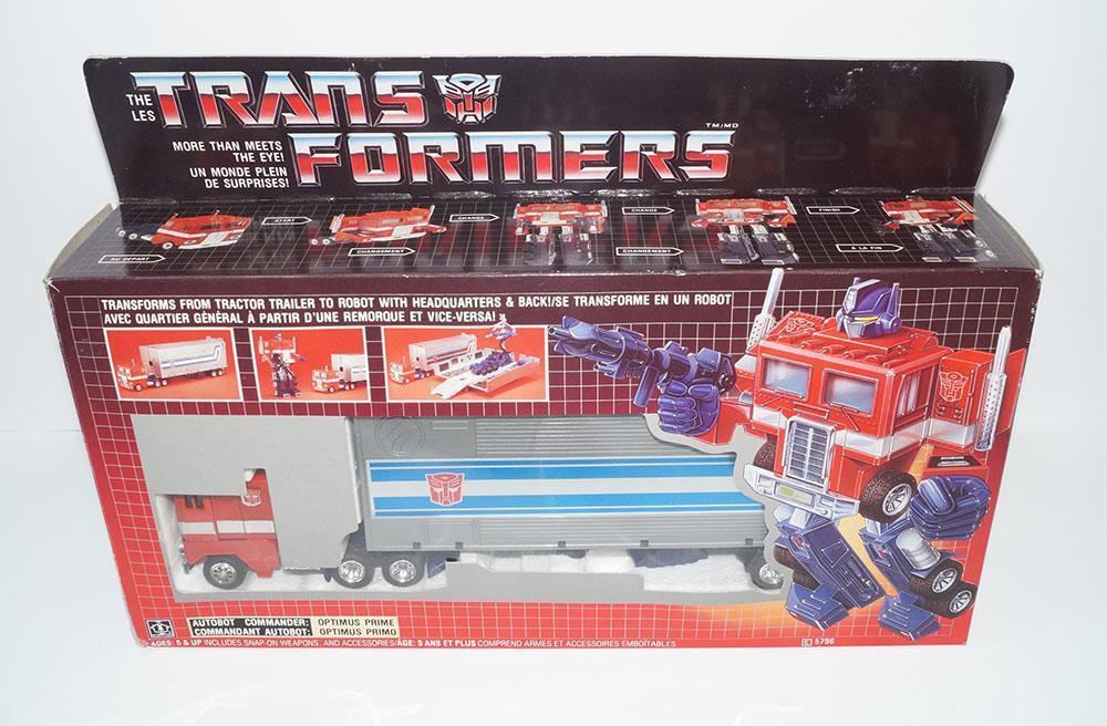 Optimus Prime TM Transitional SQ Pipe Cab MIB Canadian E 1984 G1 Transformers