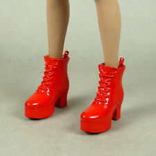1/6 Phicen, Hot Toys, Play Toy, Kumik, Zy - Female Glossy Red Motorcycle Boots