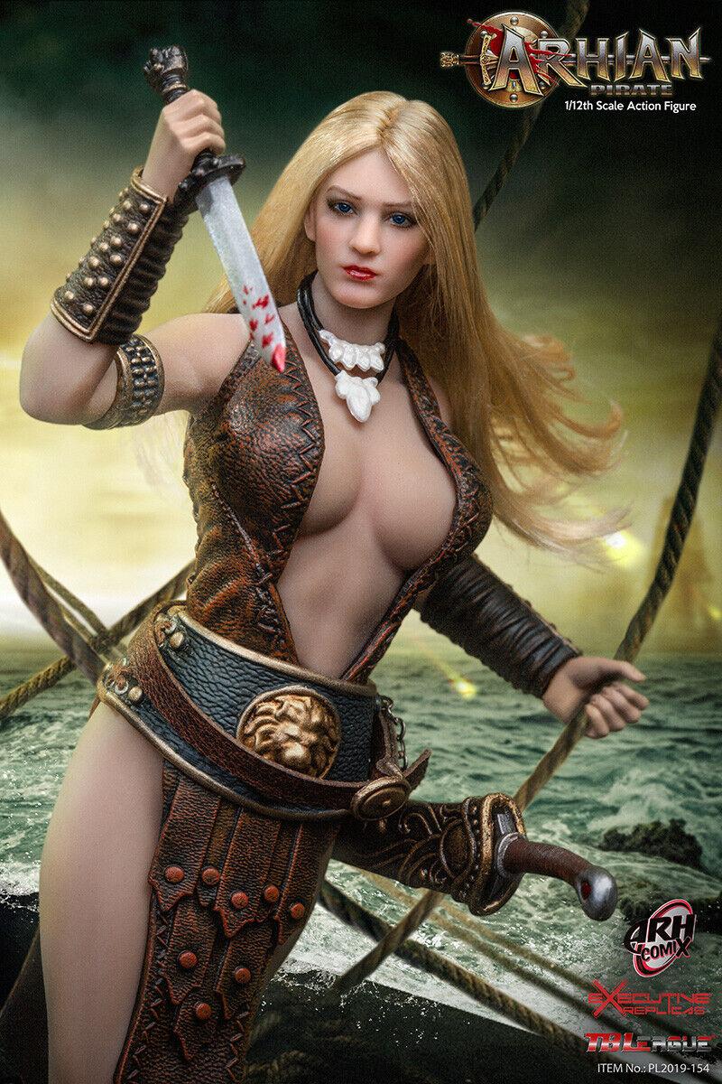 TBLeague 1 12 Arhian Pirate Female Action Figure Set 6'' Collectible PL2019-154