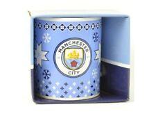 2e487b12b18 (mug106) Official Manchester City football Club Christmas Crest mug BNIB