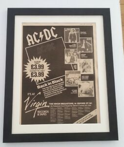 AC-DC-Back-Catalogue-1980-ORIGINAL-POSTER-AD-FRAMED-FAST-WORLD-SHIP