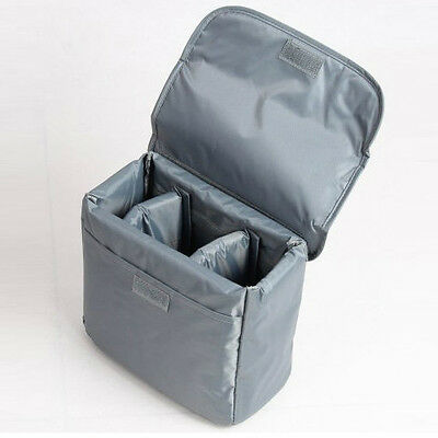 New Waterproof DSLR Camera Insert Padded Partition Lens Bag For Canon Nikon Sony