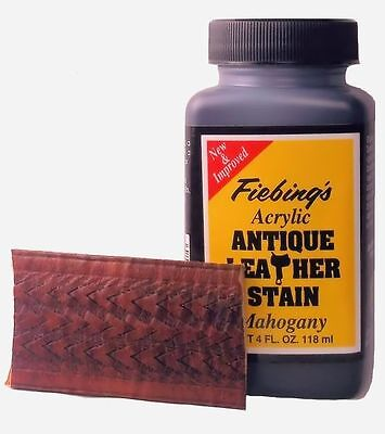 Fiebing's Acrylic Antique Leather Stain Mahogany 4 oz 2607-16
