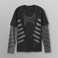 Boys Tapout Long Sleeve Shirt Black And Gray Sizes 4, 5