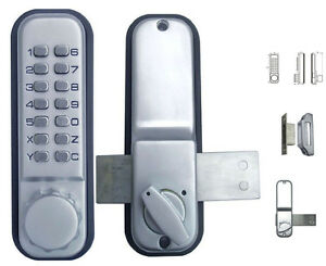 Mechanical Weatherproof Pushbutton Password Code Glass Deadbolt Home Door Lock