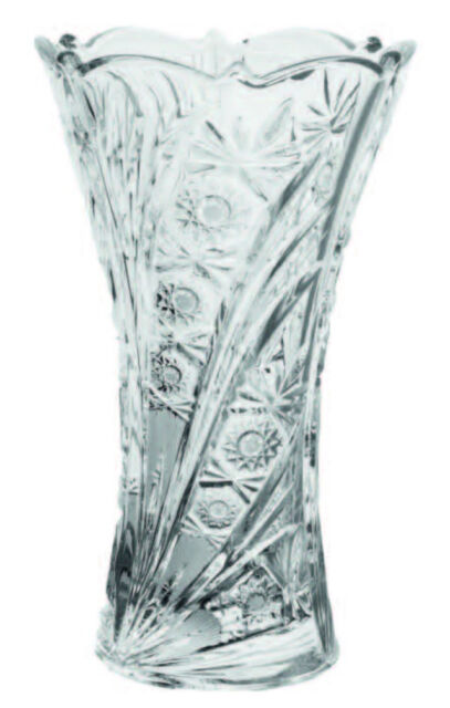 "Crystal Glass  Vase 12 "" Centerpiece Flower Clear Color Bohemian Crystal Vase"