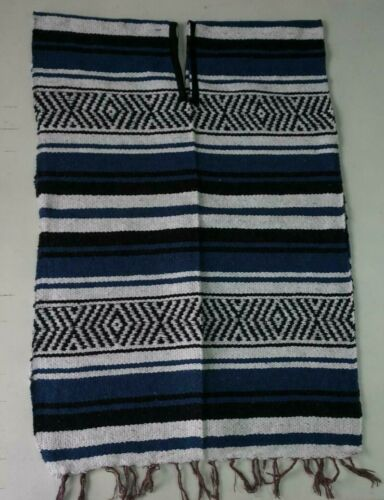GABAN MEXICAN FALSA PONCHO SARAPE ONE SIZE ADULT 5 DE MAYO PARTY COSTUME