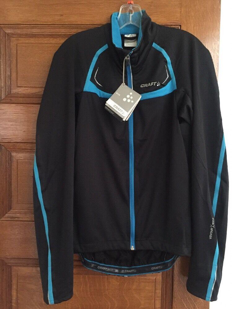 Nueva chaqueta de estiramiento Bicicleta de rendimiento de Artesanía grande negro con ribete azul