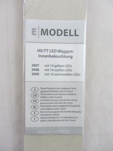 E Modell 3008 LED Innenbeleuchtung für HO Wagen Neu und Originalverpackt