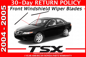 Genuine OEM Acura TSX Wiper Insert Pair Front 2004-2005 Inserts Set