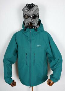 Huf Worldwide Windbreaker Jacke Jacket Zip Standard Shell Sycamore in M