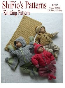 KNITTING-PATTERN-BABY-JACKET-LEGGINGS-HAT-amp-BLANKET-2-SIZES-217-NOT-CLOTHES