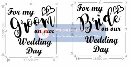 Vinyl Sticker for Wedding Boxes Bride /& Groom Gift Boxes DIY Wedding Boxes