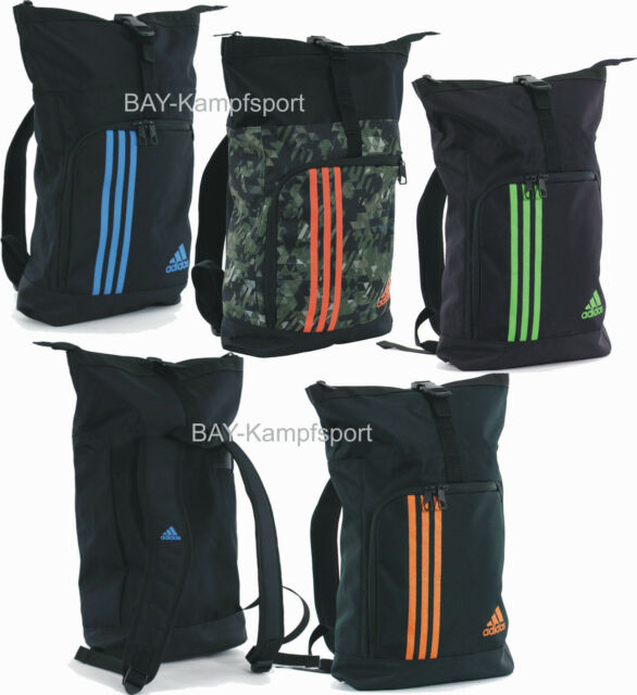 adidas blau orang Seesack Trainingstasche Military Rucksack Tasche Sportrucksack