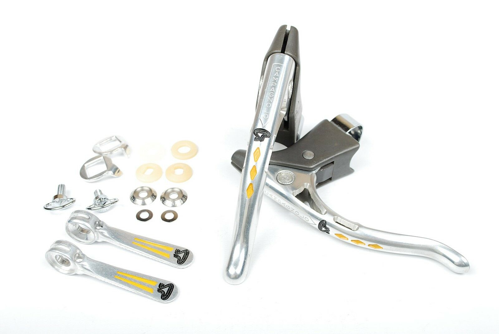 Campagnolo Bicycle Brake Levers And Braze-On Shifters  Pogliaghi Pantographed NOS  best sale