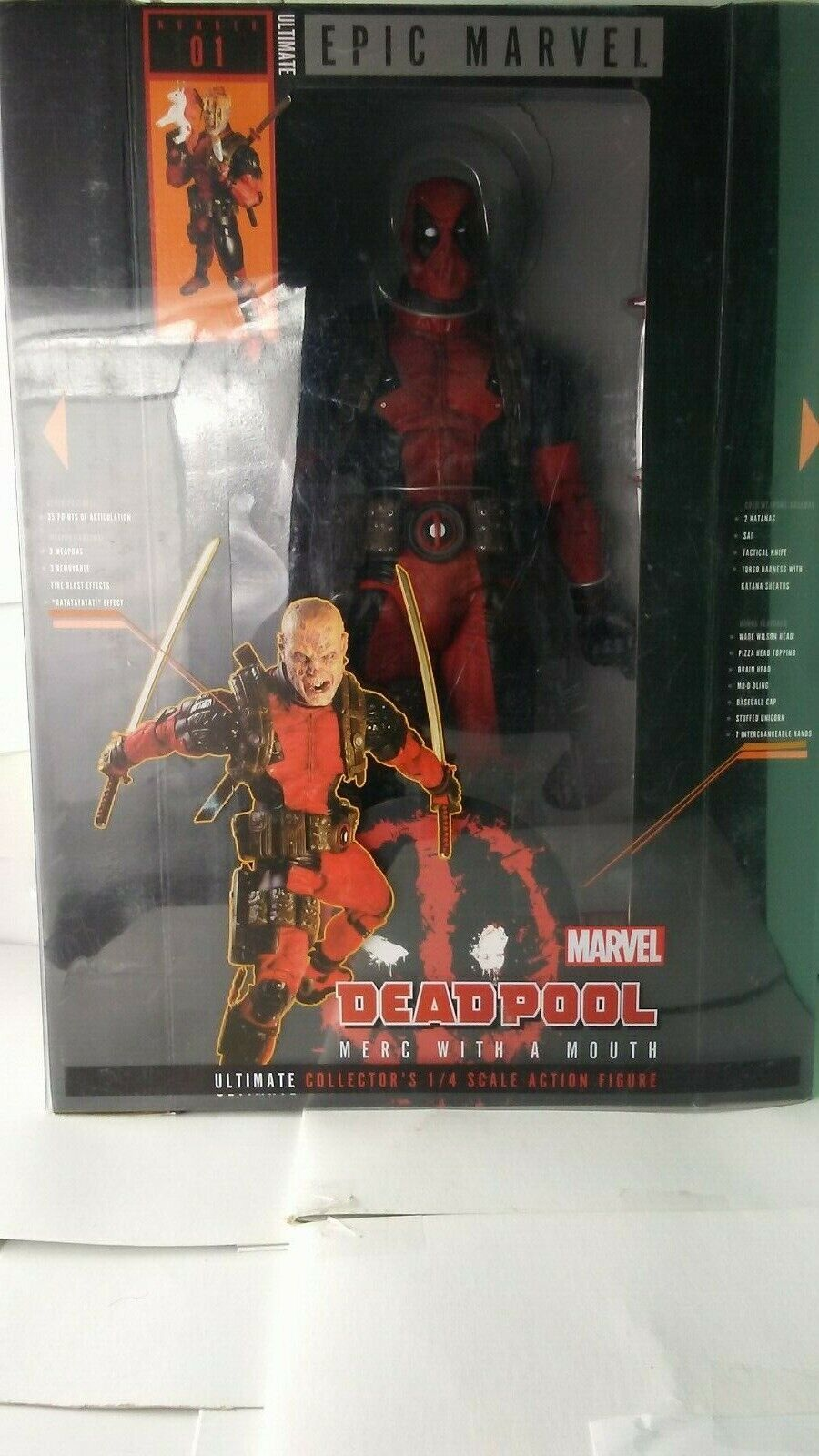 Neca Marvel Deadpool Ulimate Collector's 1 4 Escala Figura De Acción