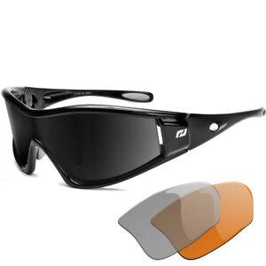 Daisan Radbrille Fahrradbrille Herren Sportbrille mit Wechselscheiben EIhgwgyAD