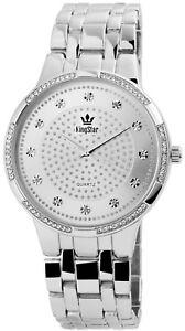 King-Star-Herrenuhr-Silber-Strass-Analog-Metall-Quarz-Armbanduhr-X1800057001
