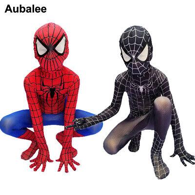 Kids Red Black Spiderman 3d Print Costume Boys Movie Quality