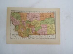 Details about Map of Montana with Counties, Cities, and Railroads Color  Plate