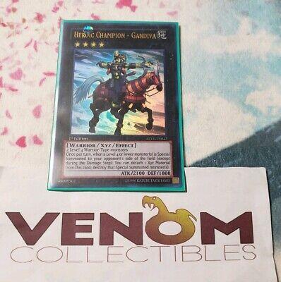 1x Gandiva ABYR-EN042 Ultra Rare 1st Edition YuGiOh Heroic Champion M//NM