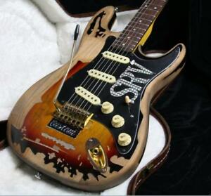 2NEW-Top-Quality-Relic-SRV-Electric-Guitar-Eged-Hardware-Alder-Body-Sunburst