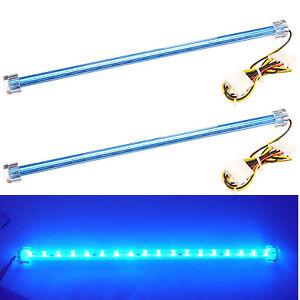 2x blue led sticks 12v led strip light tube for pc computer case or image is loading 2x blue led sticks 12v led strip light aloadofball Choice Image