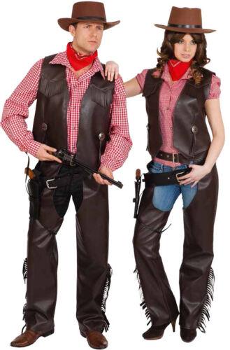 Orl Herren Kostüm Cowboy Weste braun zu Karneval Fasching