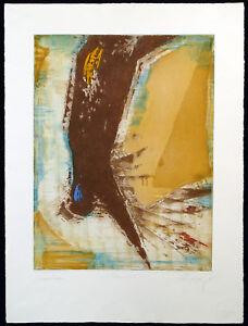 DDR-Kunst-Gestuerzt-1985-Farbradierung-Christian-LANG-1953-D-handsigniert