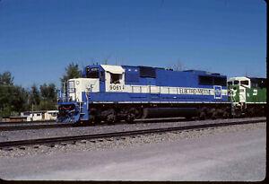 EMD 9061 SD60 at Forsyth MT 2000 Original 35mm slide.