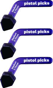 Pistol-Picks Guitar Picks Medium 0.75mm Pistol Picks ergonomic guitar picks