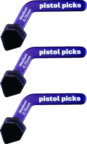 Pistol-Picks Guitar Picks Medium 0.75mm Pistol Picks