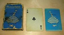 Carte DA GIOCO POKER miniature PLAYING CARDS la scatola originale vintage antico con Joker