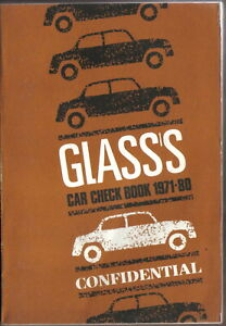 Glass-039-s-Car-Check-Book-1971-1980-Confidential-UK-Specifications
