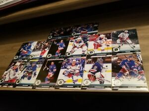 2017-18-UPPER-DECK-UD-SERIES-1-amp-SERIES-2-NEW-YORK-RANGERS-TEAM-SET-14-CARDS