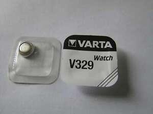 5x V329 Silber-Oxid Uhrenknopfzelle Batterie 1,55V SR731SW Varta